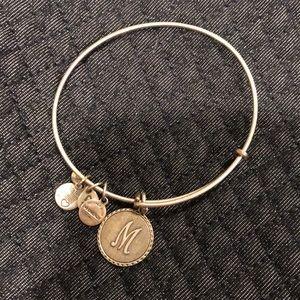 "Alex and Ani ""M"" initial bracelet"
